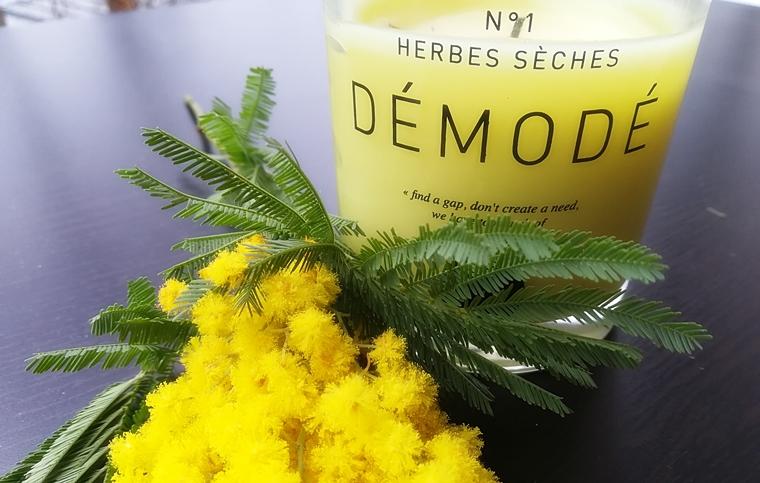 Bougie Herbes sèches Démodé